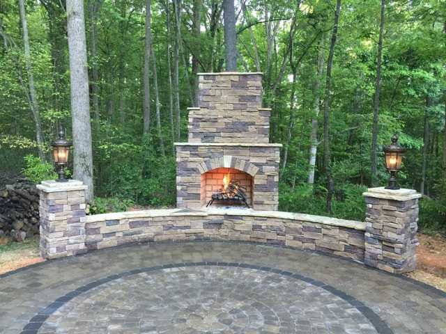 Charlotte outdoor fireplaces
